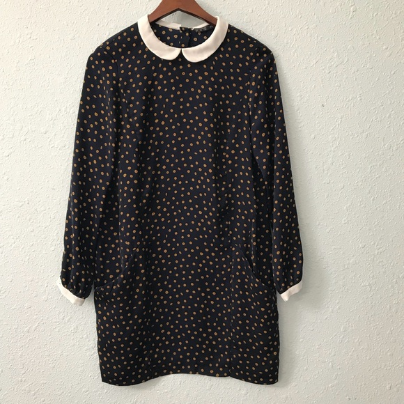 4333c5cc Zara polka dot dress w/ Peter Pan collar & pockets.  M_5ac7c3459cc7ef830ea6266b